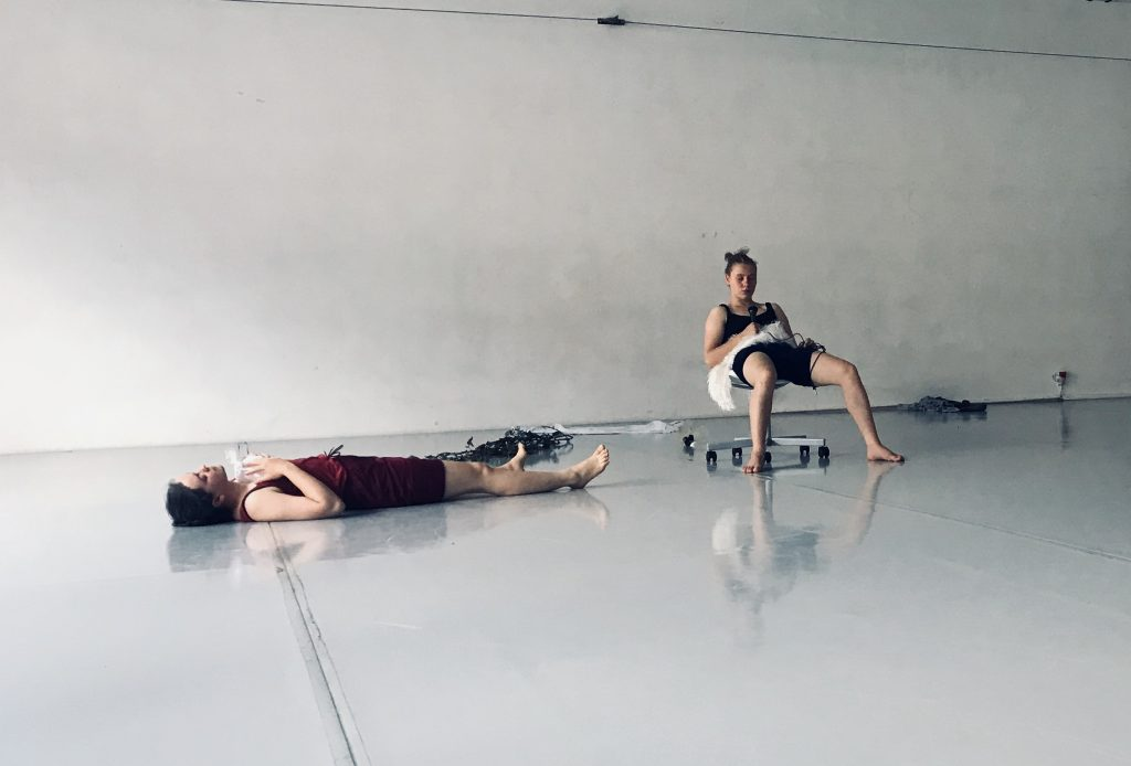 Kuvassa kaksi tanssijaa.